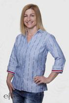 Edelweiss-Bluse COOL MAX für Damen, 3/4 Arm - hellblau