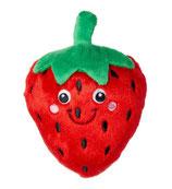 Plüsch Erdbeere L : 18 cm rot