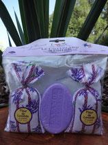 100g Lavendelseife und 2 Säckchen Lavendel im Set