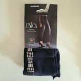 GAETANO CAZZOLA Leggings PantaCollant Moda Classic Neri con Decoro Argento sul Polpaccio |JULY|