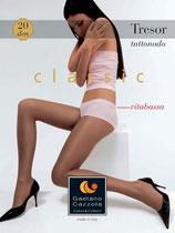 GAETANO CAZZOLA Collant Mod. TRESOR Velato 20 DEN TUTTONUDO VITABASSA Con Lycra |3039|