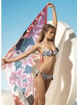 PARAH Bikini GLAM LATINO Push-Up con Coppe con Ferretto Imbottite + Slip con Laccetti con Decoro in Pizzo Macramè
