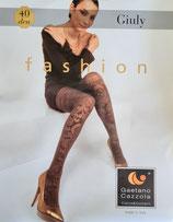 GAETANO CAZZOLA Collant Coprente Opaco FASHION Mod. GIULY 40 DENARI Fantasia Floreale Geometrica