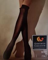GAETANO CAZZOLA Parigine Autoreggenti in Cotone Bianco Mod. MORIS