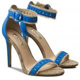 GUESS Petra Fringe Sandals Sandali con Frange Bicolore a Punta Tacco 10 cm