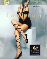 GAETANO CAZZOLA Collant FASHION Mod. WIP 20 DEN Stampa Ballerina con Allacciatura e Fiocco