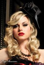 LEG AVENUE Burlesque Cappello a Cilindro Nero con Fiore e Fiocco |LA-2135|