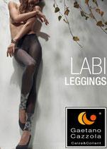 GAETANO CAZZOLA Leggings Pantacollant Senza Piede Moda Mod. LABI 50 DEN Coprente con Motivo Floreale
