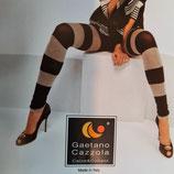 GAETANO CAZZOLA Leggings PantaCollant in Cotone FASHION Mod. ART PANTY a Righe con Lurex