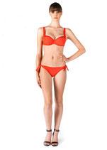 PARAH Bikini SAINT TROPEZ Arancione Nero o Blu con Coppe con Ferretto Non Imbottite