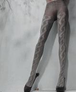 GAETANO CAZZOLA Collant in Maglia Caldo Cotone FASHION Mod. JADA 150 DENARI Con Treccia 3D