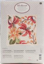 RICO design Stickpackung für Kissen Blume auf rosé