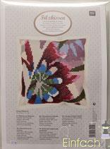 RICO design Stickpackung für Kissen Blume hell