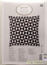 RICO design Stickpackung für Kissen Dreiecke s-w