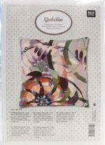 RICO design Stickpackung für Kissen Blume auf flieder/rosa