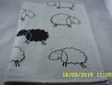 Handtuch mit schwarzem Schaf -Frottier-