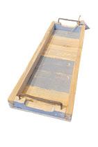 Holz-Tablett   -schmal-