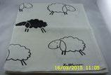 Handtuch mit schwarzem Schaf -Halbleinen-