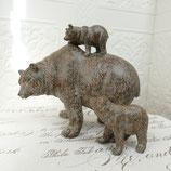 Dekofigur Bärenfamilie Bärenmutter mit Jungen