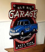 Old Big Garage-blau
