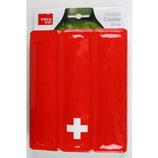 Weinkühler rot mit Schweizer Kreuz