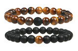 Armband Fashion Lava/Tiger Eye 2er Set