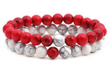 Armband marmorierten Perlen-Look