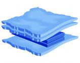 Skyline 3L 70% stabilisierte  Softside Wassermatratze