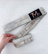 Long Resistance Bands - White & Gold marble
