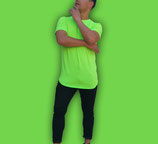 Polera Larga Fit  |  Verde Fluor  | shirtEmpire
