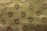 Colgante 4  corazon color plata