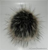 Racoon Otter; Kunstfell Bommel für Mützen 100% vegan