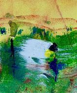 Balzo nel vento, 2019, tecnica mista, 11,5 x 13,5 cm