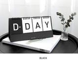 D-Day Schreibtischkalender mit Drahtgebundenes Flip für wiederverwendbaren Kalender