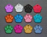 2 x Hundemarke Pfote aus Aluminium Metall Beschriftung/Gravur