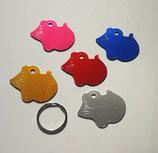 3 x Hundemarke Maus aus Aluminium Metall Beschriftung/Gravur