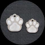 Pfote Edelstahl, Hundemarke 2 Größen