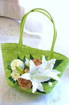 silk flower bag