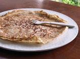 New - Assiette en bambou et maïs aspect martelé - La grande de 27,5 cms de diamètre.