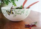 Saladier à motif floral et papillons à base de bambou et maïs.