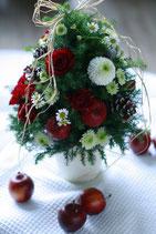 クリスマスツリーアレンジメント  ¥5400