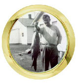 """1 7/16"""" (36mm) Fit-up  Pic Frame with gold rim"""