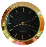 """1 7/16"""" (36mm) Quartz Fit-up  Black with gold bar indicators"""