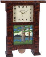 Greene & Greene Pendulum Clock Parts with choice of 6x6 Motawi Tile