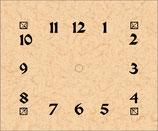 Greene & Greene Pendulum Clock Dial/Hands/Pendulum Movement.  200GG-D