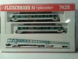 Fleischmann 7428 Dieseltriebzug der DB zweiteilig, BR 628.2 Spur N