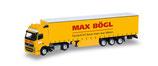 Herpa 918800 Max Bögl, Volvo FH GL'02  Gardinenplanen - Sattelzug