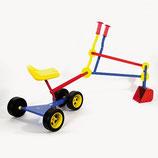 Sitzbagger mit Rädern Metall