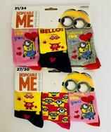 Pack de 3 chaussettes Les minions
