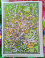 Cotswold maps  Greeting Card